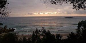 Tramonto sulla Spiaggia La Calanca